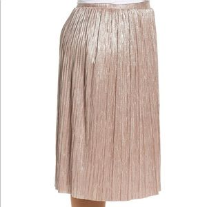 337707151a Vince Camuto Skirts - Vince Camuto Pale Gold Metallic Knit Midi Skirt 1x